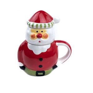 Ceramic Xmas Tea Infuser 'Santa Claus'