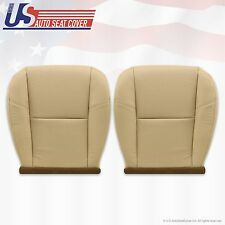 2009 - 2011 Cadillac Escalade Driver $ Passenger Seat Bottom Leather Covers Tan