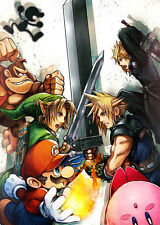 Cloud Strife Super Smash Bros Poster 18x24 in FAST SHIP