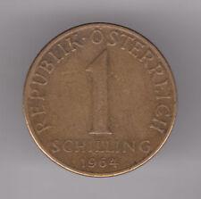 Austria 1 Schilling 1964 Aluminium-Bronze Coin - Edelweiss Flower