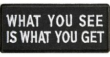 WHAT YOU SEE IS WHAT YOU GET SEW OR IRONON EMBROIDERED CLOTH BIKER PATCH