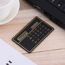8 Digit Mini Slim Credit Card Solar Power Pocket Calculator Novelty Small Travel