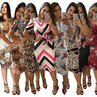 Women's Sexy Profession Dress Lady Bodycon Nightclub Ball Gown Dresses Plus Size