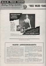 THESE WILDER YEARS Pressbook,  Barbara Stanwyck, James Cagney ----PLUS POSTER---