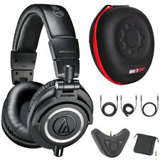Audio-Technica M50X Pro Studio Monitor Headphones w/ Adapter Bundle (Black)
