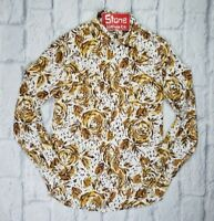 Levi's Vintage Clothing LVC 1960'S Brown White Tiger Flower Shirt L/S £170 New S