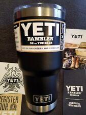 Yeti Rambler 30 oz Tumbler*Black*Cup/Mug*Bra nd New*Authentic Yeti*