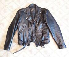 MENS 36 - Vtg Street Legal SL Motorcycle Biker Punk Black Leather Jacket