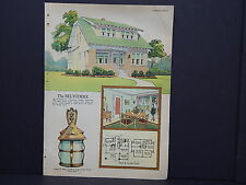 Houses, Homes, American Builder c.1927, One Double Sided Print #14