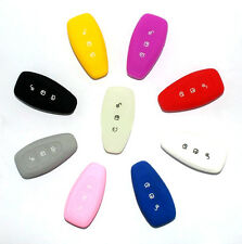 1 SILICONE 3 BUTTON REMOTE KEY FOB CASE COVER FOR FORD FOCUS MONDEO KUGA FIESTA