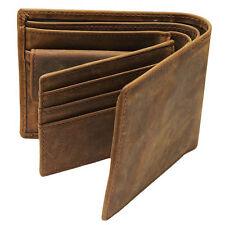 Vintage Men's Leather Bifold ID Card Holder Wallet Coin Pocket Billfold Purse