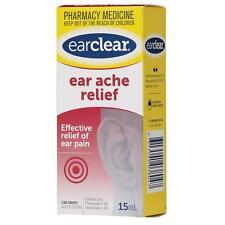 Ear Clear Ear Ache Relief Drops 15Ml Effective relief of ear pain