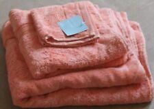 DEBANHAMS TOWEL SET-BATH,HAND TOWEL & FACE CLOTH - TERRECOTTA - BNWT