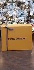 Louis Vuitton Empty Orange Gift Box w/blue ribbon Speedy 18x14½x6½