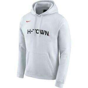 Nike Men's Houston Rockets City Edition Logo Fleece Hoodie NWT XL