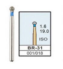 100pcs Dental Burs Drills FG for High Speed Handpiece BR-31 Ball Round