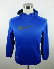 Nike Boys Polyester Therma Fit LS Blue Activewear Hoodie Sweatshirt Youth XL