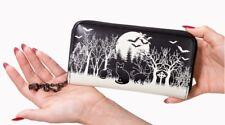 Lost Queen Woodland Gothic Bats Punk Spooky Horror Rockabilly Wallet WT1479