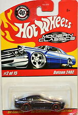HOT WHEELS MODERN CLASSICS #02/15 - DATSUN 240Z  BLACK 40TH ANNIVERSARY