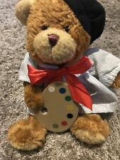 """Lovely Artist Teddy Bear Cuddly Toy With Paint Pallet Approx 8"""" Toy"""