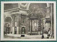 1944 Blick Von ROM Aufdruck ~ Interior OS St.PETER'S Papal Altar APOSTLE'S Tomb