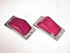 Tail Lenses w/ Rims Fits Hillman Minx 1948-1953 NOS Original Lucas Glass L484