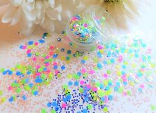 NAIL Art grosso * disco * Matte Neon Misto Forme Hexagon Glitter Spangle MIX Pot