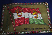 10 3/4 x 7 1/4 Inches Large Austria-Hungary Flag Flannel