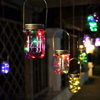 10LED Solar Power Auto Hanging Glass Lamp Garden Courtyard Decor Light