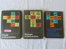 3 x DDR Physik Biologie Werkstoffbearbeitung in Übersichten Wissensspeicher