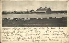 Farm Scene Near Aberdeen SD Artesian Well c1905 Postcard