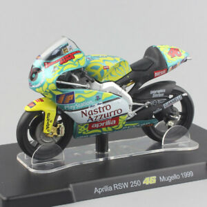 1/18 LEO Aprilia RSW250 Mugello 1999 racer #46 motoGP motorcycle model bike toy