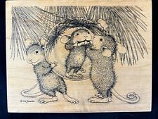 House mouse rubber stamp 1999 Funny face #378 NEW