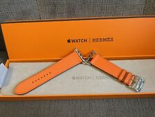 Apple Watch Hermes 6 Orange Swift Leather Band 44MM