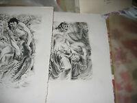 """Frédéric Lefèvre """"Images bibliques"""" Papier Auvergne 1/25 Lithos de HOFER + Suite"""