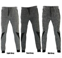 FIL Men's Skinny Jogger Gym Track Pants Zip Pockets Cuff Marle Sweat Pants