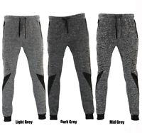 FIL Men's Skinny Jogger Gym Track Pants Zip Pockets Cuff Marle Sweat Pants