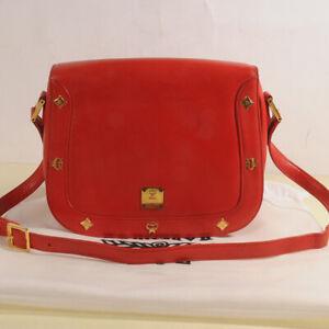 AUTHENTIC MCM Leather Cross Bag + Dust Bag