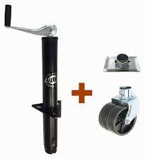 New LIBRA 2000 lbs A Frame Topwind Trailer Jack w Foot Plate & Dual Wheel Caster