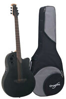 Ovation Elite TX D-Scale DS778TX Acoustic-Electric Guitar - Black with Case