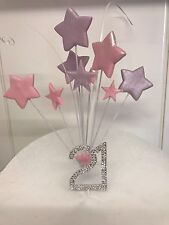21st Birthday Cake Topper Decoration with Diamante sign and Stars
