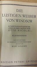 Otto Nicolai: el feliz esposas de Windsor partitura: (J5)