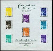 2002 FRANCE BLOC N°44** LES COULEURS DE MARIANNE / SHEET MNH