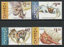 1999 TOKELAU PACIFIC CRABS SET OF 4 FINE MINT MNH