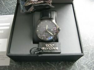 Glycine GL0297 Vintage black automatic Combat in excellent condition little worn