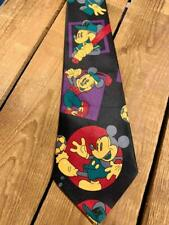 Vintage Silk ºoº Classic Mickey Mouse Playing Sports Comic Style ºoº Tie