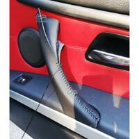 Black Right Interior Door Handle Leather Cover Trim For BMW 3 Series E90 05-12