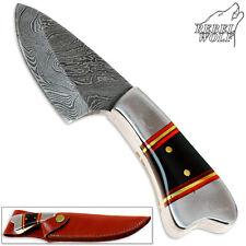 Rebel Wolf Mini Dividing Force Damascus Steel Handforged Custom Knife Very Sharp