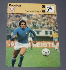 FICHE FOOTBALL 1978 GAETANO SCIREA SQUADRA AZZURRA ITALIA ITALIE JUVENTUS JUVE