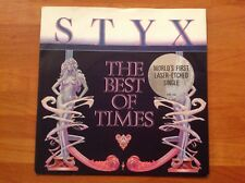 STYX - 1980 Vinyl 45rpm 7-Single - THE BEST OF TIMES. world's first laser - etch